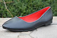 Балетки, туфли черные женские легкие и удобные