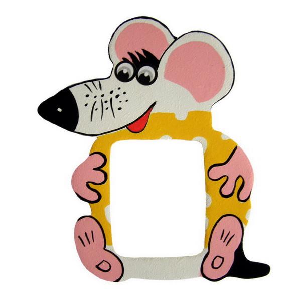 Детская фоторамка «Мышка с сыром», Funny Animals