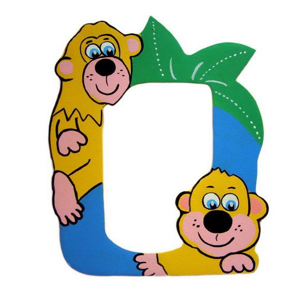 Детская фоторамка «Обезьянки», Funny Animals