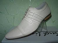Мужские кожаные классические туфли TEZORO
