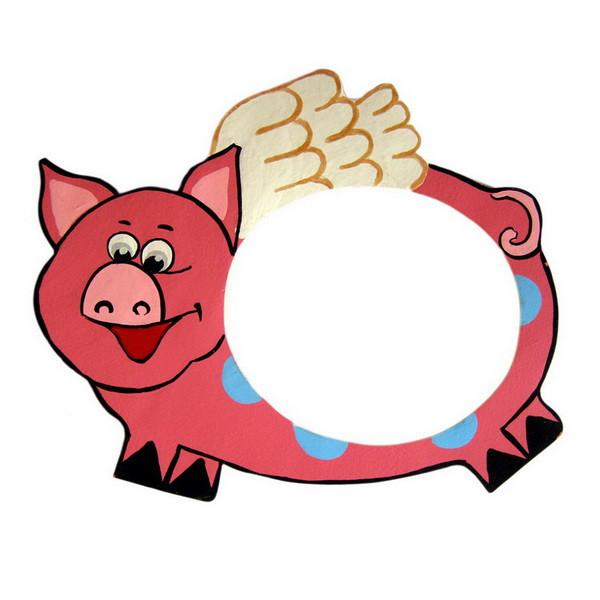 Детская фоторамка «Свинка с крылышками», Funny Animals
