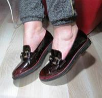Туфли женские молодежные. Кожа