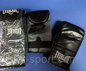 Перчатки снарядные Everlast (верх из кожи, на ладони сетчатая вставка ClimaCool)