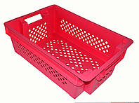 Красный перфорированный ящик 600х400х200