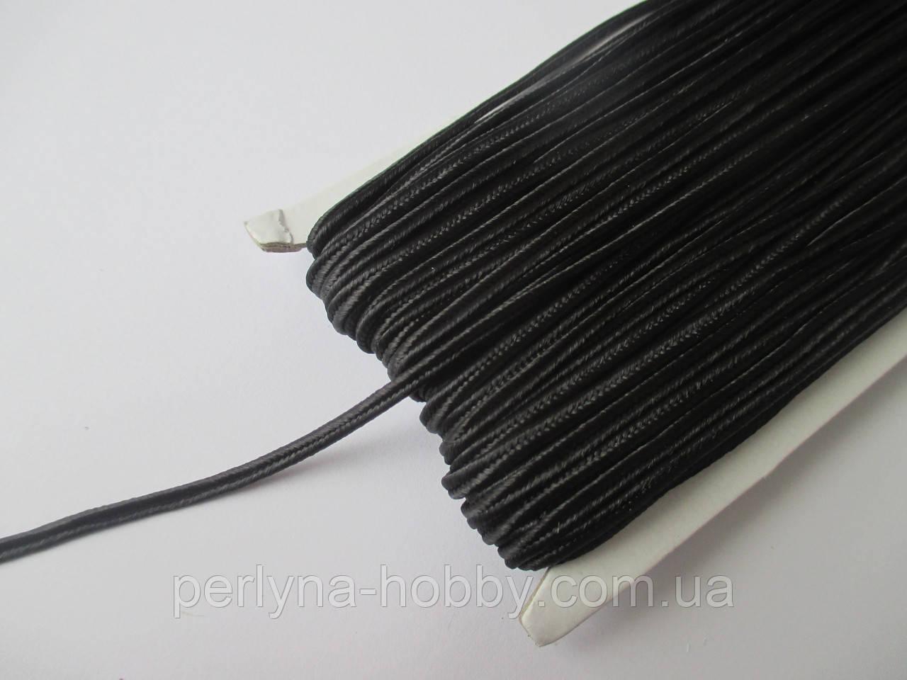 Сутаж 3 мм чорний