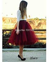 Фатиновая юбка ниже колена