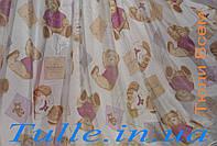 Тюль детская с мишками