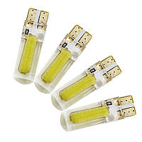 Светодиодная лампа цоколь Т10 COB BIG, silicone, 95Lm, 12В