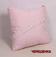 Подушка микрофибра/холлофайбер 70*70 розовая