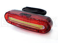 Фонарь велосипедный USB красный/белый ZH-008-096-RW
