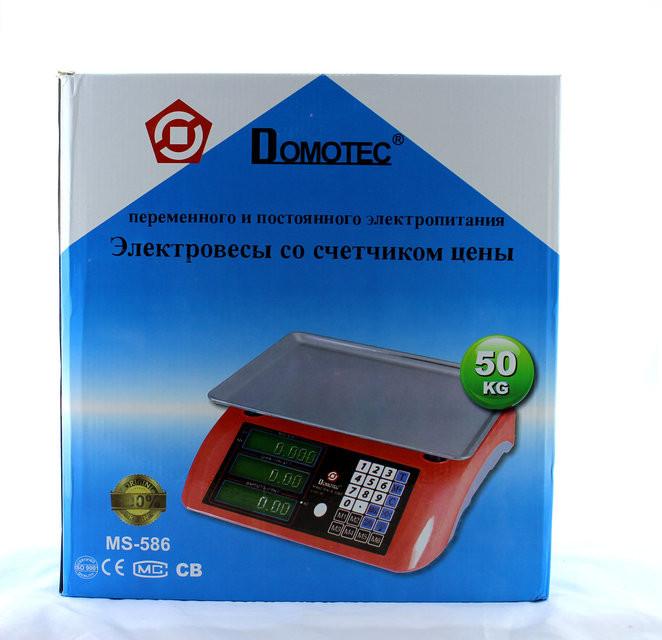 Весы электронные торговые ACS 50kg/5g MS 586/986 Domotec 6V