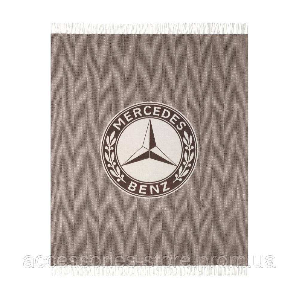Плед Mercedes Blanket, Herringbone, Dark Brown / Off-white