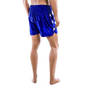 Шорты для тайского бокса Everlast синие 9007-B, фото 2