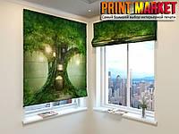 Римские шторы сказочно дерево