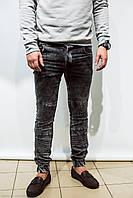 Мужские джинсы серые на резинке