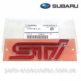 Subaru Impreza 2015-18 эмблема значок STI на крышку багажника Новый Оригинальный