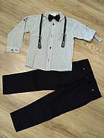 Костюм   для мальчика с рубашкой, брюками и бабочкой 5 и 6