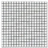 Мраморная мозаика МКР-4С (старенная/валтованная) 15*15*6 Mix White