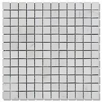 Мраморная мозаика МКР-2П (полированная) 23*23*6 Mix White