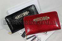 Лаковый брендовый кошелек женский Москино
