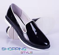 Черные лаковые туфли 40 размер