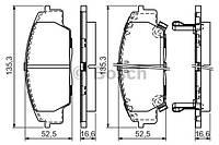 Передние тормозные колодки HONDA CIVIC TYPE R