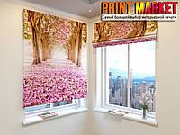 Римские шторы цветущая сакура