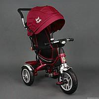 Детский трехколесный велосипед (надувные колеса) Best Trike 5388 красный