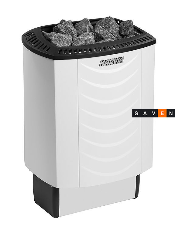 Электрическая каменка Harvia Sound M80E белая для сауны и бани