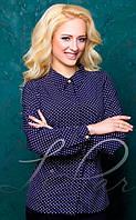 Женская блуза в горошек 2055 (Л.И.П.)