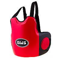 Защита на грудь мужская BWS DX красно-черная BWS-8024R