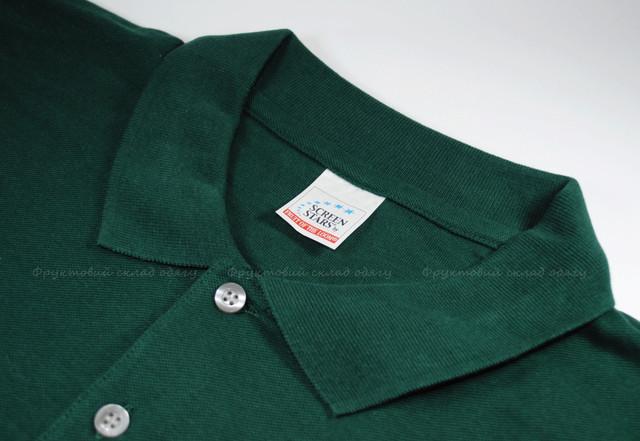 Тёмно-зелёное мужское классическое поло