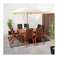 "IKEA ""КАРЛСЭ"" Зонт от солнца, бежевый, Локо серый"