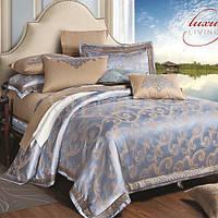 Комплект постельного белья Вилюта сатин жаккард Tiare двуспальный Евро 1603