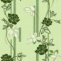 Обои, бумажные, цветы,зеленый, Милена 1046, 0,53*10м, фото 3