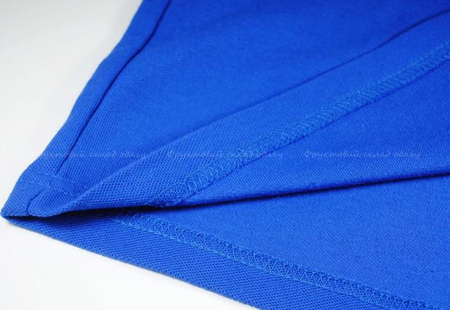 Ярко-синее мужское классическое поло