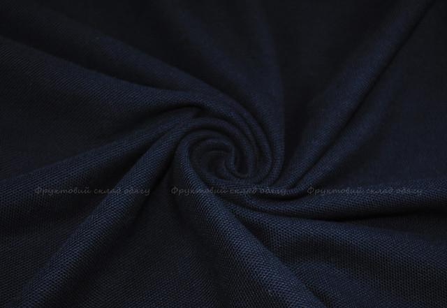 Глубоко тёмно-синее мужское классическое поло