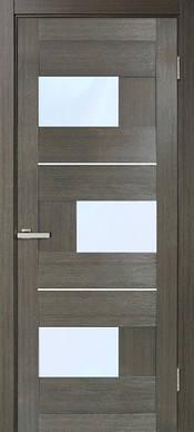 Двери межкомнатные ПВХ Куб с молдингом и стеклом