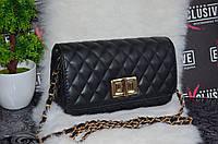 """Шикарная сумка в стиле """"Шанель"""", черная."""