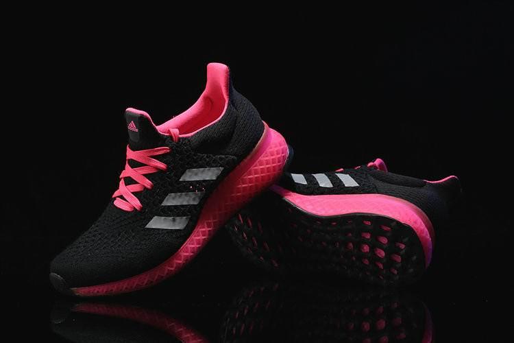 Кроссовки женские Adidas Ultra Boost FutureCraft 3D Black Pink. интернет магазин обуви, адидас ультра буст