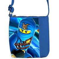 Синяя сумка для мальчика Маленький принц с принтом Ниндзяго