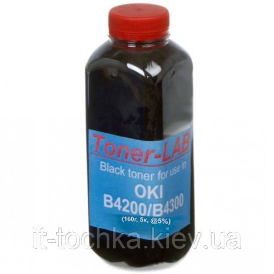 Тонер tonerlab для oki b4200/b4300 бутль 160г black (1400230)