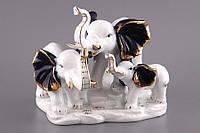 Статуэтка Слоны 21 см фарфор 98-065