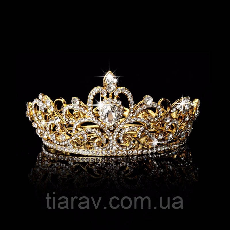 Корона на голову, тіара, діадема Теона кругла корона на голову прикраси
