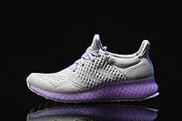Кроссовки женские Adidas Ultra Boost FutureCraft 3D Grey Purple. сайт обувь интернет магаз, адидас ультра буст