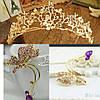 Диадема свадебная Лея, Весiльна дiадема, весiльна бiжутерiя Украшения для волос аксессуары, фото 8