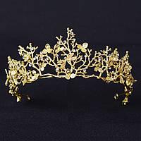 Диадема свадебная Тиара Лея корона вечерняя на голову Тиара Виктория свадебная