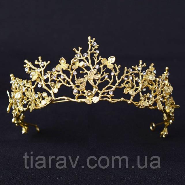 Диадема свадебная Тиара Лея корона вечерняя Украшения для волос аксессуары