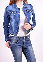 Пиджак джинсовый женский стрейчевый NewJeans Размеры в наличии : 38,40,42,44,46,48 (Код: 2500003021050)