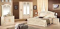 Изысканная спальня на 6 предметов от фабрики Мебель-Сервис. Модель Рома (4-х дверный шкаф)